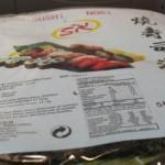 Alga nori para preparar sushi