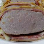 Solomillo wellington con queso y bacon